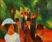 August Macke - Promenade (with white girls in half-length)