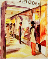 August Macke - A mall under arbors