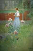 Carl Larsson - Lisbeth with peonies