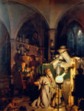Joseph Wright of Derby - The Alchymist, in Search of the Philosopher's Stone, Discovers Phosphorus