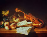 Jean-Baptiste Oudry - Still life with violin and recorder