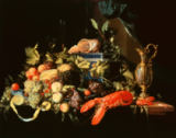 Still life with fruit and lobster of Jan Davidsz. de Heem