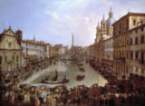Giovanni Paolo Pannini or Panini - Die Piazza Navona in Rom, unter Wasser gesetzt