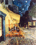 Vincent van Gogh - Terrace des Cafes at the Place du Forum in Arles in the evening