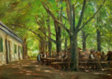 Max Liebermann - Biergarten in Brannenburg