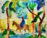 Eselsreiter of August Macke