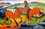 The Red Horses (Grazing Horses IV) of Franz Marc