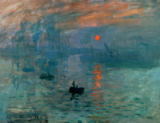 Impression, soleil levant of Claude Monet