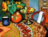 August Macke - Stilllife with sunflowers I