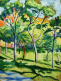 August Macke - Bäume in der Wiese