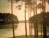 Evening at the Schlachtensee of Walter Leistikow