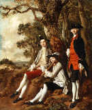 Portrait of Peter Darnal Muilman, Charles Crockatt and William Keeble von Thomas Gainsborough