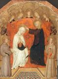 Coronation of Mary with Saint Francis of Assisi and Saint Anthony of Padua of Pellegrino di Mariano Rossini