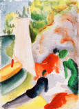 August Macke - Picknick am Strand