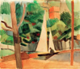 August Macke - Hilterfingen at Lake Thuner