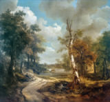 Thomas Gainsborough - Waldlandschaft Cornard / 1748