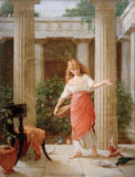 John William Waterhouse - Im Peristyle