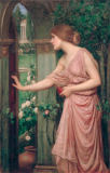 John William Waterhouse - Psyche öffnet Amors Gartentor