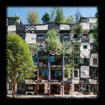 Kunsthauswien of artist Friedensreich Hundertwasser as framed image