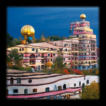 Art Print: Friedensreich Hundertwasser, The Forest Spiral of Darmstadt