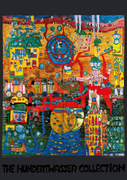 The 30 days Fax Picture of artist Friedensreich Hundertwasser as framed image
