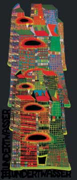 Good Morning City of artist Friedensreich Hundertwasser as framed image