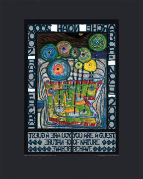 Arche Noah of artist Friedensreich Hundertwasser as framed image