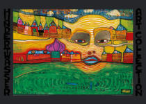 Friedensreich Hundertwasser - Irinaland over the Balkans