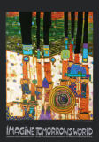 Imagine Tomorrows World (orange Version) - nach 944 blue blues von Friedensreich Hundertwasser