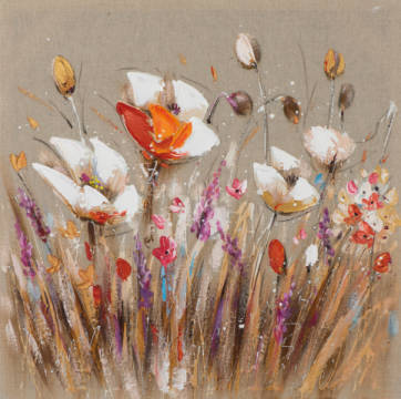 Flower meadow I of artist New Life Collection as framed image