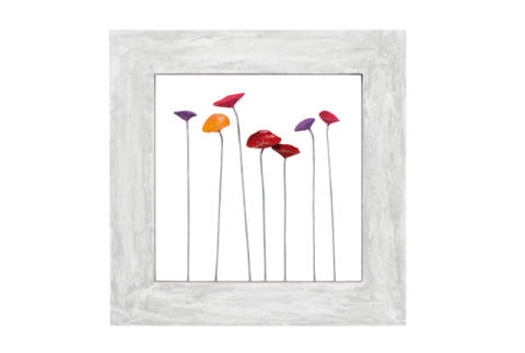 Poppies I of artist New Life Collection as framed image