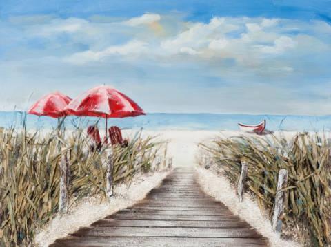 New life collection weg zum strand i handgemaltes for Schilderij zeezicht