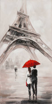Couples at eifel tower I of artist New Life Collection as framed image