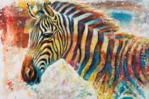 New Life Collection - Colorful zebra I
