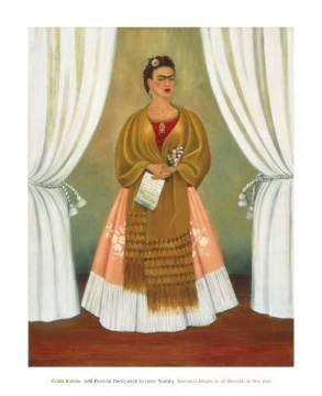 frida kahlo self portrait dedicated to leon trotsky 1937 kunstdruck poster. Black Bedroom Furniture Sets. Home Design Ideas