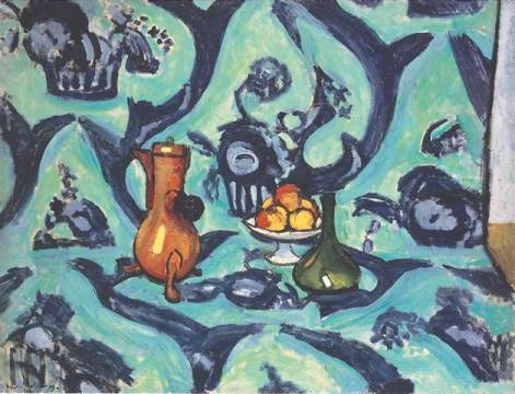 klassischer Kunstdruck: Henri Matisse, Still Life with Tablecloth