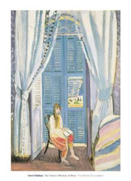 klassischer Kunstdruck: Henri Matisse, The French Window at Nice, late 1919
