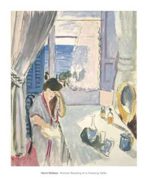 Woman Reading at a Dressing Table, late 1919 von Künstler Henri Matisse als gerahmtes Bild
