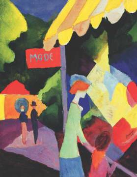 klassischer Kunstdruck: August Macke, Fashion Store Window
