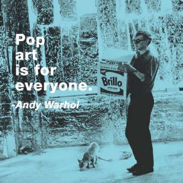 Pop art is for everyone (color square) von Künstler Andy Warhol als gerahmtes Bild
