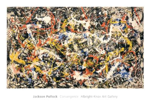 Convergence of artist Jackson Pollock as framed image