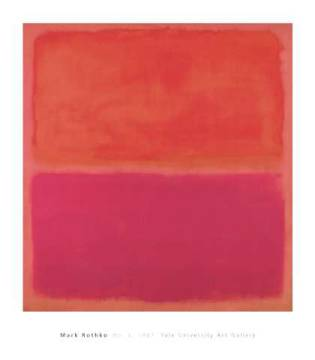 No. 3, 1967 of artist Mark Rothko as framed image