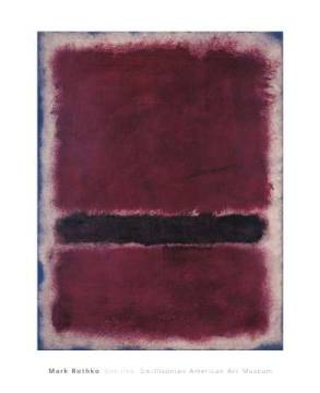 Untitled, 1963 of artist Mark Rothko as framed image
