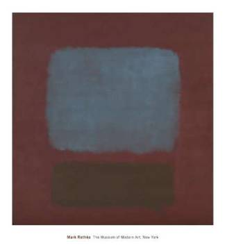 No. 37/No. 19 (Slate Blue and Brown on Plum), 1958 of artist Mark Rothko as framed image