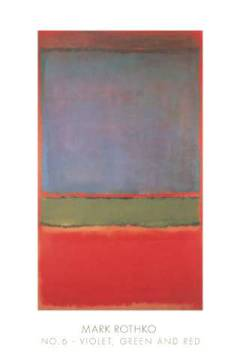 klassischer Kunstdruck: Mark Rothko, No. 6 (Violet, Green and Red), 1951