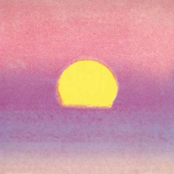 Sunset, 1972 40/40 (lavender) of artist Andy Warhol as framed image