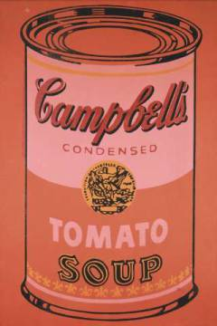 klassischer Kunstdruck: Andy Warhol, Campbell's Soup Can, 1965 (orange)