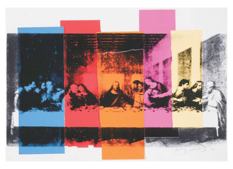 klassischer Kunstdruck: Andy Warhol, Detail of The Last Supper, 1986