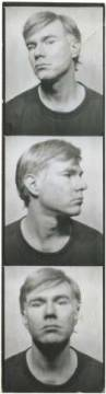 klassischer Kunstdruck: Andy Warhol, Self-Portrait, c. 1964 (photobooth pictures)