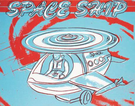 Art Print: Andy Warhol, Space Ship, 1983